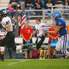 10-5-18<br /> Tipton vs Western football<br /> Western's Kitchel Gifford heads to the endzone for a touchdown and outruns Tipton's Elijah Lillis.<br /> Kelly Lafferty Gerber | Kokomo Tribune