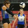 10-20-18<br /> Tipton vs Clinton Prairie regional volleyball semi-final<br /> Rachael Ressler returns a serve.<br /> Kelly Lafferty Gerber | Kokomo Tribune