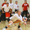 10-30-18<br /> IUK volleyball<br /> Kristi Elson returns a serve.<br /> Kelly Lafferty Gerber | Kokomo Tribune