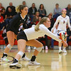 10-30-18<br /> IUK volleyball<br /> Kristi Elson makes a dig.<br /> Kelly Lafferty Gerber | Kokomo Tribune