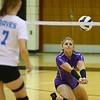 10-13-18<br /> Northwestern vs Maconaquah sectional volleyball<br /> Emma Byrum goes for the ball.<br /> Kelly Lafferty Gerber | Kokomo Tribune