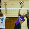 10-13-18<br /> Northwestern vs Maconaquah sectional volleyball<br /> Madison Layden sends one flying.<br /> Kelly Lafferty Gerber | Kokomo Tribune