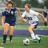 10-2-18<br /> Northwestern vs Lafayette Central Catholic girls soccer sectional<br /> LCC's Hailey Fallen, left, and NW's Kate Miller.<br /> Kelly Lafferty Gerber | Kokomo Tribune