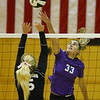 10-13-18<br /> Northwestern vs Western sectional volleyball<br /> Madison Layden goes for a kill.<br /> Kelly Lafferty Gerber | Kokomo Tribune