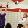 10-30-18<br /> IUK volleyball<br /> Morgan Weir goes for a kill.<br /> Kelly Lafferty Gerber | Kokomo Tribune
