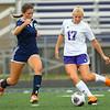 10-2-18<br /> Northwestern vs Lafayette Central Catholic girls soccer sectional<br /> LCC's Emma Bullock and NW's Olivia Hale.<br /> Kelly Lafferty Gerber | Kokomo Tribune