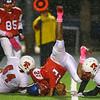 10-12-18<br /> Kokomo vs Richmond football<br /> Jeremy Baker is taken down by Richmond defense.<br /> Kelly Lafferty Gerber | Kokomo Tribune