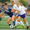 10-2-18<br /> Northwestern vs Lafayette Central Catholic girls soccer sectional<br /> LCC's Madisyn Schultz and NW's Mariah Clark.<br /> Kelly Lafferty Gerber | Kokomo Tribune