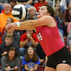 10-20-18<br /> Tipton vs Clinton Prairie regional volleyball semi-final<br /> Claire Norred goes for a dig.<br /> Kelly Lafferty Gerber   Kokomo Tribune