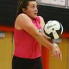 10-20-18<br /> Tipton vs Clinton Prairie regional volleyball semi-final<br /> Claire Norred returns a serve.<br /> Kelly Lafferty Gerber | Kokomo Tribune