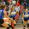10-20-18<br /> Tipton vs Clinton Prairie regional volleyball semi-final<br /> Cassidy Crawford and Carly Ripberger celebrate after a point.<br /> Kelly Lafferty Gerber | Kokomo Tribune