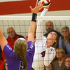 10-30-18<br /> IUK volleyball<br /> Mallorie Haves goes for a kill.<br /> Kelly Lafferty Gerber | Kokomo Tribune