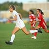 10-4-18<br /> Kokomo vs Logansport girls soccer<br /> Kokomo's Nicole Brudette heads for the goal for a shot in overtime for a Wildkat win 3-2.<br /> Kelly Lafferty Gerber | Kokomo Tribune
