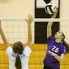 10-13-18<br /> Northwestern vs Maconaquah sectional volleyball<br /> Jenna Goodspeed goes for a kill.<br /> Kelly Lafferty Gerber | Kokomo Tribune