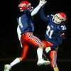10-19-18<br /> Cass vs Eastern football<br /> Easton Good and Gabe Eurit celebrate after a Eurit touchdown.<br /> Kelly Lafferty Gerber | Kokomo Tribune