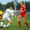 10-4-18<br /> Kokomo vs Logansport girls soccer<br /> Kokomo's Kirstin Pierce, left, and Logansport's Heidi Reed.<br /> Kelly Lafferty Gerber | Kokomo Tribune