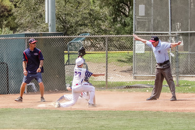 Ryan Manda, RF, slides into third base..... 3B Umpire: John Huitt