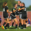 9-13-18<br /> Western vs Northwestern girls soccer<br /> Western's Faith Lytle is hugged by teammate Samantha Garber (3) and congratulated by teammates after scoring Western's first goal.<br /> Kelly Lafferty Gerber | Kokomo Tribune