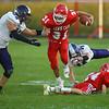 9-14-18<br /> Lewis Cass vs Northwestern football<br /> LC's Gabe Eurit makes a run.<br /> Kelly Lafferty Gerber   Kokomo Tribune