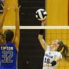 9-5-18<br /> Western vs Tipton volleyball<br /> Western's Haley Berry sends one over the net.<br /> Kelly Lafferty Gerber | Kokomo Tribune