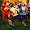 9-14-18<br /> Lewis Cass vs Northwestern football<br /> NW's Mitchell Hahn runs the ball.<br /> Kelly Lafferty Gerber   Kokomo Tribune