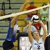 9-5-18<br /> Western vs Tipton volleyball<br /> Karlyne Shepherd sets the ball.<br /> Kelly Lafferty Gerber | Kokomo Tribune