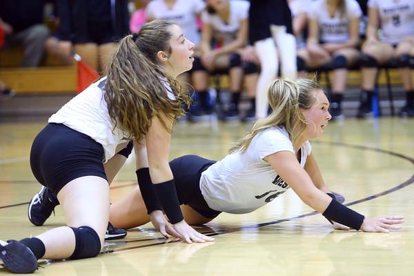 Western HS hosting Northwestern HS Volleyball on Sept. 25, 2018.<br /> Tim Bath | Kokomo Tribune