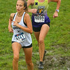 9-8-18<br /> Cross Country at Mac<br /> Western's Hannah Lushin closely followed by NW's Casey Lechner.<br /> Kelly Lafferty Gerber | Kokomo Tribune
