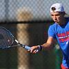 Sectional Tennis singles #3 KHS's Jacob Chapel who beat WHS's Matthew Tuchscherer on Sept. 25, 2018.<br /> Tim Bath   Kokomo Tribune
