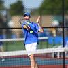 Sectional Tennis Doubles between Western's Palmer Harrell and Clayton Shanks and Kokomo's Jackson Richards on Sept. 25, 2018.<br /> Tim Bath   Kokomo Tribune