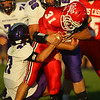 9-14-18<br /> Lewis Cass vs Northwestern football<br /> NW's Bodey Henry and Caleb Harris takes down LC's Gabe Eurit.<br /> Kelly Lafferty Gerber | Kokomo Tribune