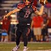 9-7-18<br /> Eastern vs Taylor football<br /> Taylor's Clay Brubaker throws a pass.<br /> Kelly Lafferty Gerber | Kokomo Tribune