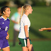 Soccer action between Northwestern HS and Eastern HS girls on Sept. 27, 2018. Northwestern's Jaydn Braun showing a little excitement after scoring in the second half.<br /> Tim Bath | Kokomo Tribune
