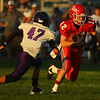 9-14-18<br /> Lewis Cass vs Northwestern football<br /> LC's Isaac Chambers runs the ball.<br /> Kelly Lafferty Gerber | Kokomo Tribune