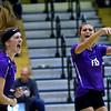 Western HS hosting Northwestern HS Volleyball on Sept. 25, 2018. Stephanie Burns reacts as Northwestern scores.<br /> Tim Bath | Kokomo Tribune