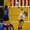 9-5-18<br /> Western vs Tipton volleyball<br /> Haley Berry sends one over the net.<br /> Kelly Lafferty Gerber | Kokomo Tribune