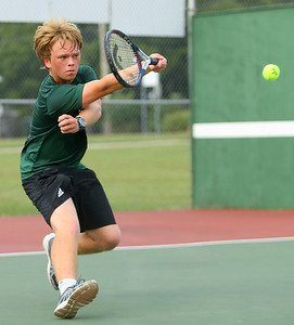 9-18-18 Eastern boys tennis 3 singles Nathaniel Kurfman. Kelly Lafferty Gerber | Kokomo Tribune