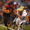 9-7-18<br /> Eastern vs Taylor football<br /> Taylor's Anthony Townsend runs the ball.<br /> Kelly Lafferty Gerber | Kokomo Tribune