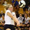 9-5-18<br /> Western vs Tipton volleyball<br /> Hilary Merica make a dig.<br /> Kelly Lafferty Gerber | Kokomo Tribune
