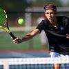 Sectional Tennis singles #2 WHS's Carter Condo on Sept. 25, 2018.<br /> Tim Bath   Kokomo Tribune