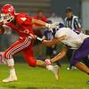 9-14-18<br /> Lewis Cass vs Northwestern football<br /> LC's Easton Good outruns NW's Jaelen Fowler.<br /> Kelly Lafferty Gerber | Kokomo Tribune