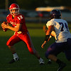 9-14-18<br /> Lewis Cass vs Northwestern football<br /> LC's Isaac Chambers carries the ball.<br /> Kelly Lafferty Gerber | Kokomo Tribune