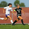 9-13-18<br /> Western vs Northwestern girls soccer<br /> Western's Sophia Weigt and NW's Jinell Zimbron.<br /> Kelly Lafferty Gerber | Kokomo Tribune