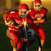 9-14-18<br /> Lewis Cass vs Northwestern football<br /> LC's Easton Good runs the ball.<br /> Kelly Lafferty Gerber   Kokomo Tribune