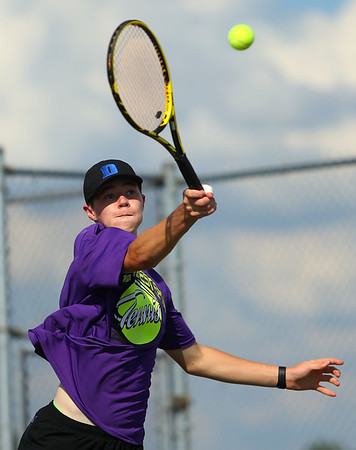 9-4-18<br /> Western vs Northwestern boys tennis<br /> NW 1 singles Cole Wise.<br /> Kelly Lafferty Gerber | Kokomo Tribune