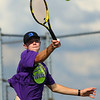 9-4-18<br /> Western vs Northwestern boys tennis<br /> NW 1 singles Cole Wise.<br /> Kelly Lafferty Gerber | Kokomo Tribune