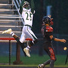 9-7-18<br /> Eastern vs Taylor football<br /> Eastern's Greg Black makes the catch after a pass.<br /> Kelly Lafferty Gerber | Kokomo Tribune