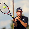 9-4-18<br /> Western vs Northwestern boys tennis<br /> Western 2 singles Jacob Jansen.<br /> Kelly Lafferty Gerber | Kokomo Tribune