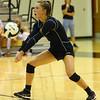9-5-18<br /> Western vs Tipton volleyball<br /> Halle Rezo makes a dig.<br /> Kelly Lafferty Gerber | Kokomo Tribune
