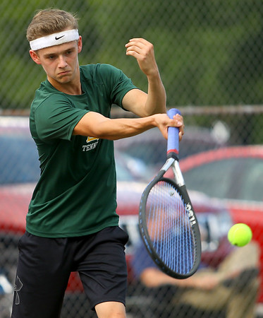 9-18-18 Eastern boys tennis 2 singles Lukas Darling Kelly Lafferty Gerber | Kokomo Tribune